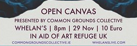 Open Canvas: a night in aid of Art Refuge UK